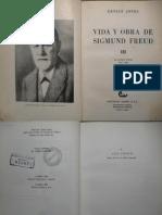 Jones, e. Vida y Obra de Sigmund Freud. Vol III (1919-1939)