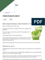 Zeleni kašasti sokovi