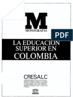 Educacon Superior en Colombia Unesco