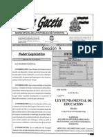 LeyFundamentaDeEducacion(Gaceta)