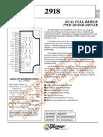 A 2918 Sw Data Sheet