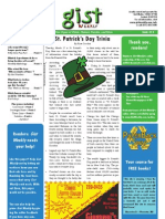Gist Weekly Issue 15 - St. Patrick's Day Trivia