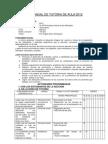 Plan Anual de Tutoria 2012 Terminado