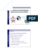 Indicadores de Desempenho - Balanced Scorecard (BSC)