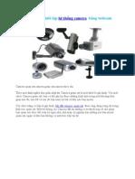 Hướng dẫn thiết lập hệ thống camera  bằng webcam