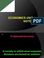Economics Unit Notes