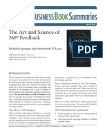 The Art and Science of the 360 Feedback