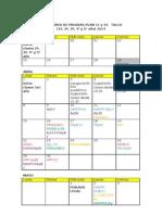 Calendario de Evaluaciones (Propuesta CAD)