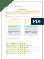 formato de guía de trabajo sustantivos propios y comunes.