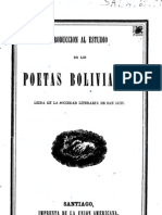 Poetas Bolivianos