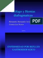 Esófago y Hernias Diafragmáticas
