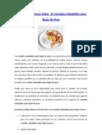 Recetas comida saludable para bajar de peso pdf to excel