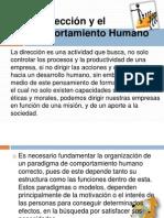 La Dirección y el Comportamiento Humano