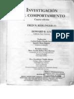 Fred N Kerlinger Investigacion Del Comportamiento
