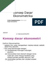 2 Konsep Dasar Ekonometrika
