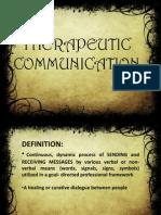 Therapeutic Communication Report