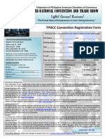 Registration Form - Federation of Philippine American Chamber of Commerce (FPACC) Bi-National Conference, Los Angeles, CA