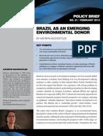 Brazil as an Emerging Environmental Donor