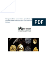 The perceived need for & practical implications of overall bank management at Al-Arafah Islami Bank Limited