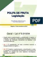 legislação-polpa de fruta
