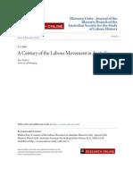 A Century of the Labour Movement in Australia