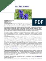 Aconitum ferox – Blue Aconite