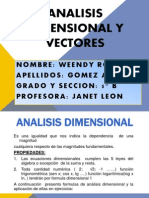 Analisis Dimensional y Vectores