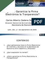 Firma Electronica y Tranparencia en el Gobierno Federal