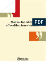 Manual for Editors of Health Science Journals
