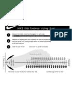 Nike Footwear Kids Sizing Chart