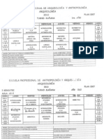 Horarios de Arqueología,  I semestre 2013 - UNFV