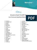 Sydney Language Solutions - OET Tips (Dental Abbreviations)