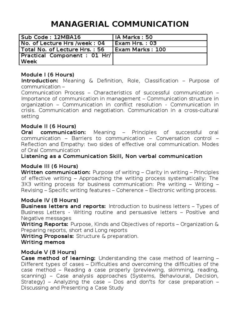 Managerial Communication Negotiation Communication