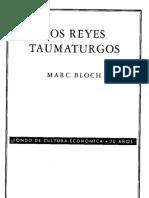 105217032 Marc Bloch Los Reyes Taumaturgos