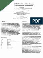 Brincker Modal Identification Ambient Response 2000