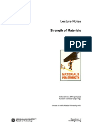 ADDIS ABABA UNIVERSITY LECTURE NOTE   Bending   Deformation