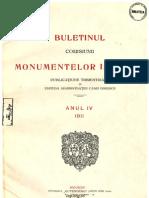 Buletinul Comisiunii Monumentelor Istorice, anul 1911, IV