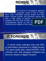 It Security Forensic, Securitarian