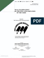 PFI ES 27 (2000)VisualExamination