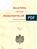Buletinul Comisiunii Monumentelor Istorice, anul 1910, III