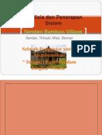 Analisis Dan Penerapan Sistem Desa Wisata Sendari