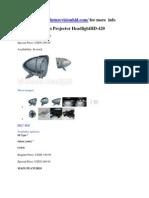 Chrome Bi-Xenon Projector HeadlightHD-420
