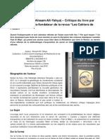 Ana-muslim.org-Fiqh AlWqi de Assam AtYahya Critique Du Livre Par Pascal Lemmel Cofondateur de La Revue Les Cahiers