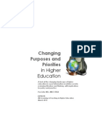 Changing Purposes and Priorities in Higher Education