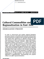 Cultural Commodities Ang Regtion in East Asia