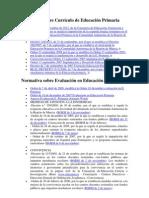 Normativa sobre Currículo de Educación Primaria