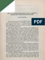 11-İbrahim Kafesoğlu - Ahlat ve Çevresinde, 1945'te Yapılan Târîhî ve Arkeolojik Tedkîk Seyâhati Raporu