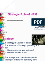 Strategic Role of HRM