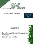 Evolution Des Differentes Hemoglobines Humaines
