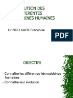 Evolution Des Differentes Hemoglobines Humaines
